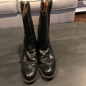 Justin black boots size 6
